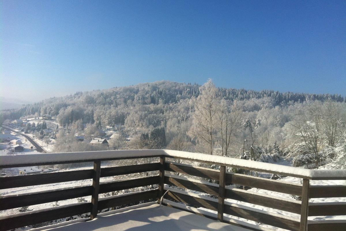 Depuis la terrasse.. - Location de vacances - Saint-Nabord