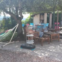 terrasse l'été - Location de vacances - Fraize