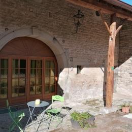 Chambre d'hôtes - 2 lits avec tables de chevets - Chambre d'hôtes - Le Clerjus