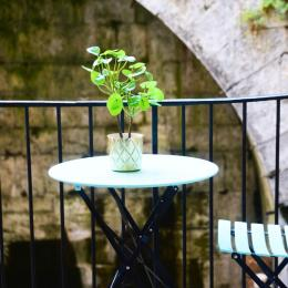 Terrasse intérieure - Appartement Stanislas - Location de vacances - Plombières-les-Bains