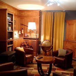 Salon bibliothèque - Chambre d'hôtes le Prieuré - Chambre d'hôtes - Aydoilles