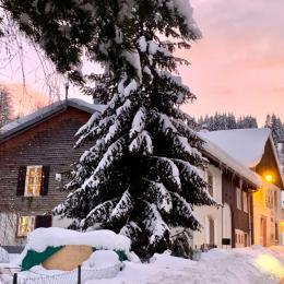 Au centre du village du Valtin - Paysage d'hiver - Location de vacances - Le Valtin