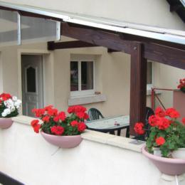 Terrasse couverte - Location de vacances - Ban-de-Laveline