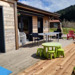 chambre 3 étage 4 lits simple avec jeux, jouets  - Location de vacances - Xonrupt-Longemer