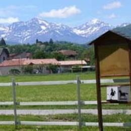 vue depuis la maison blanche - Chambre d'hôtes - Lorp-Sentaraille