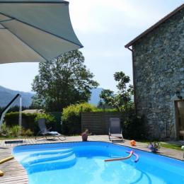 la piscine chauffée - Chambre d'hôtes - Surba