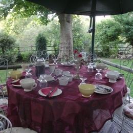 Petit déjeuner en Terrasse Plein Sud - Chambre d'hôtes - Lasserre
