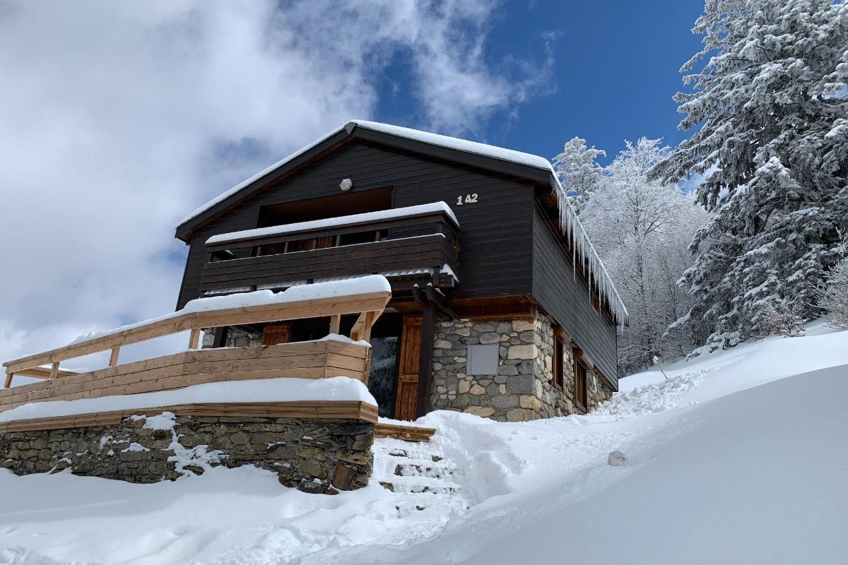 Entrée - exposition Sud-Ouest - Location de vacances - Guzet Neige Station Ski De Piste