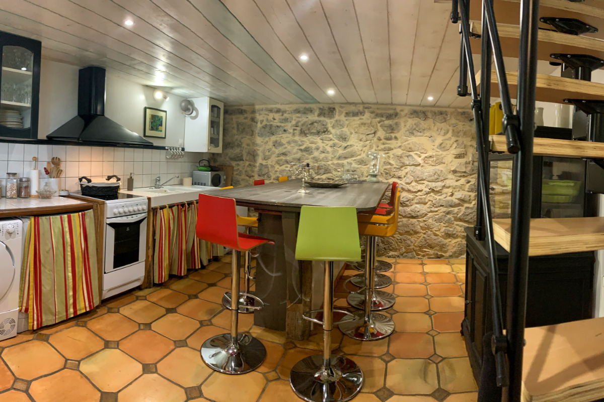 Cheminée chambre Balcon - Location de vacances - Lasserre
