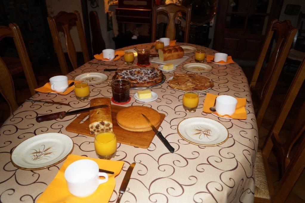 Petit déjeuner - Chambre d'hôtes - Unac