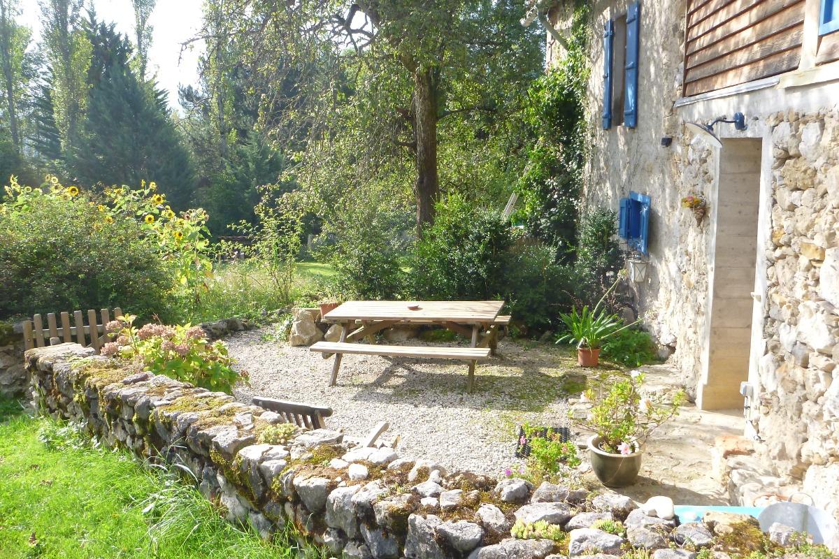 Terrasse - Location de vacances - Roquefixade