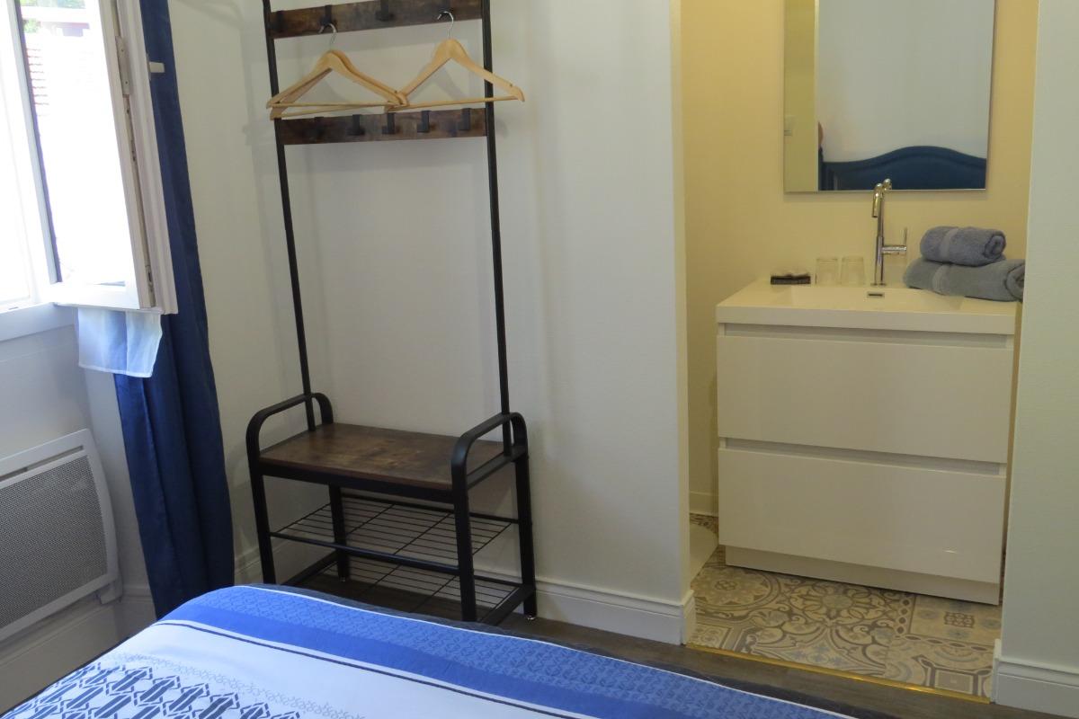 Salle d'eau Chambre Bleue - Chambre d'hôtes - Auzat