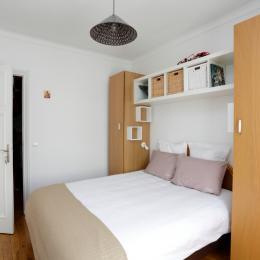 Lit 160 * 200 cm - Chambre d'hôtes - La Garenne-Colombes
