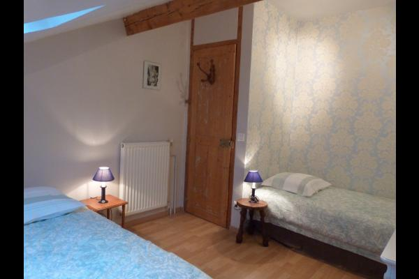 Chambre bleue - Location de vacances - Noisy-le-Sec