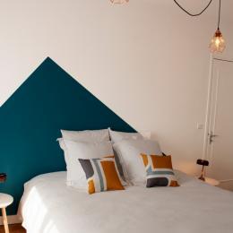 Grand lit chambre pétrole - Chambre d'hôtes - Neuilly-Plaisance