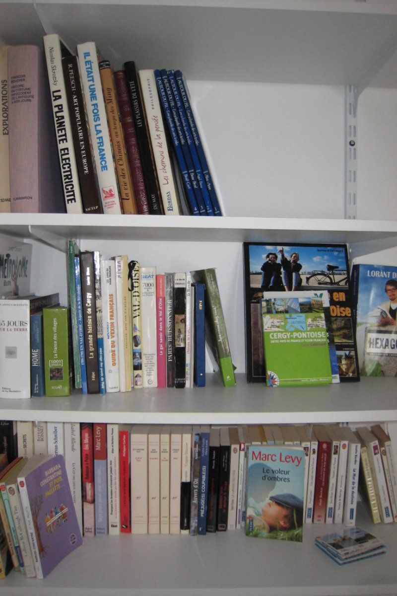 bibliothèque chambre bleue