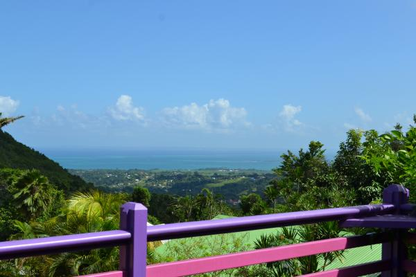 vue terrasse - Location de vacances - Deshaies