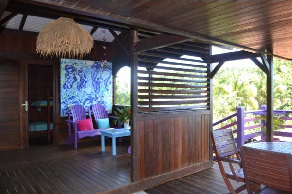 espace extérieur - Location de vacances - Deshaies