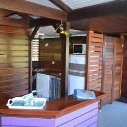 espace cuisine - Location de vacances - Deshaies