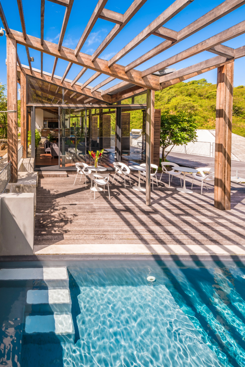 Piscine, terrasse, détente - Chambre d'hôtes - Le Gosier