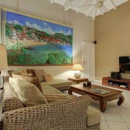salon intérieur - Location de vacances - Saint-François