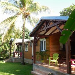 Terrasse du gite Karukéra aux gites Lamatéliane, location de vacances en Guadeloupe. - Location de vacances - Capesterre-Belle-Eau