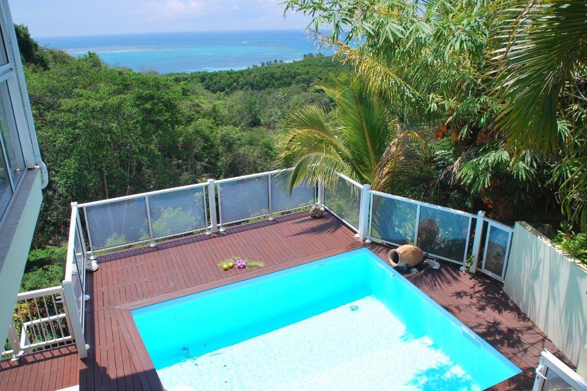 piscine privée de la villa Nature 3 chambres 2 salle d'eau et 1 salle de bain - Location de vacances - Le Gosier