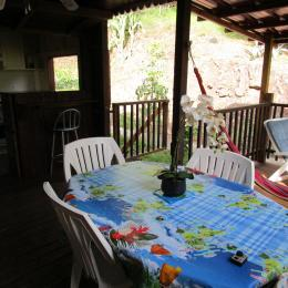 Terrasse extérieur avec la cuisine à gauche - Location de vacances - BOUILLANTE