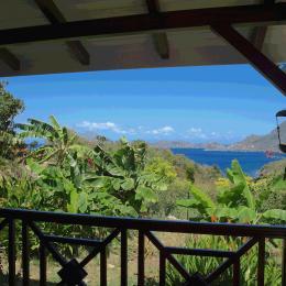 vue de la terrasse sur la baie - Location de vacances - Terre-de-Bas