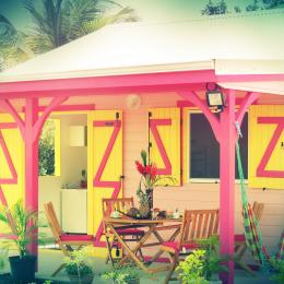votre terrasse toujours fleurie - Location de vacances - Le Moule