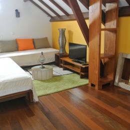 petit salon au niveau de la mezzanine avec 2 couchages - Location de vacances - Le Marin