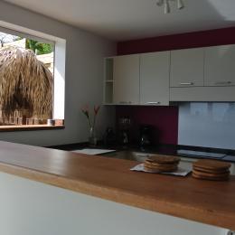 vue sur la cuisine  - Location de vacances - Le Marin