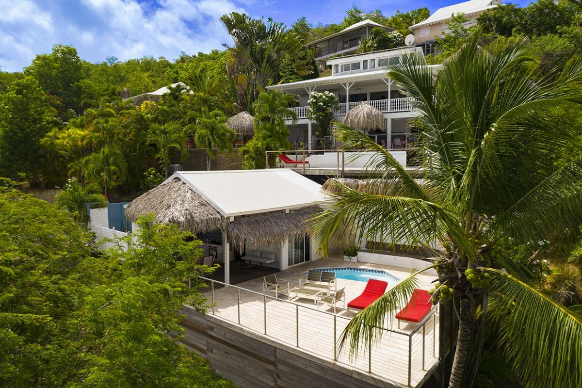 Le Ti Turquoise vue du haut http://www.locations-vue-turquoise.com/index.php?p=accueil - Location de vacances - La Trinité
