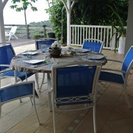 terrasse - Location de vacances - Le Carbet