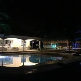 Villa Carouge Extérieur Nuit  - Location de vacances - Le François