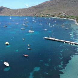 La baie de Grande Anse vue aérienne - Location de vacances - Les Anses-d'Arlet