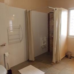 Salle d'eau avc douche à l'italienne, accessible aux personnes à mobilité réduite - Location de vacances - Saint-Leu