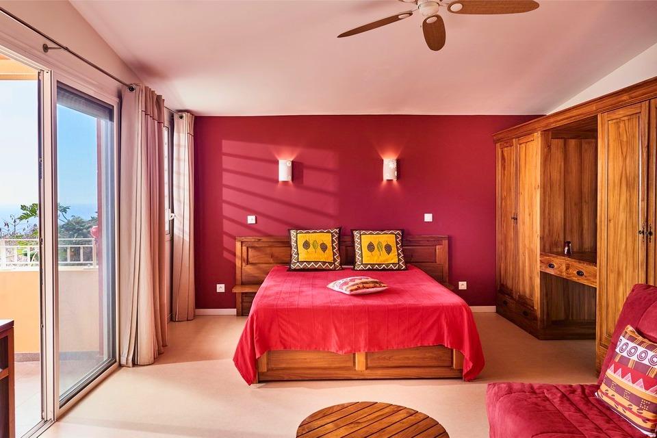 Espace chambre et salon - Location de vacances - Saint-Leu