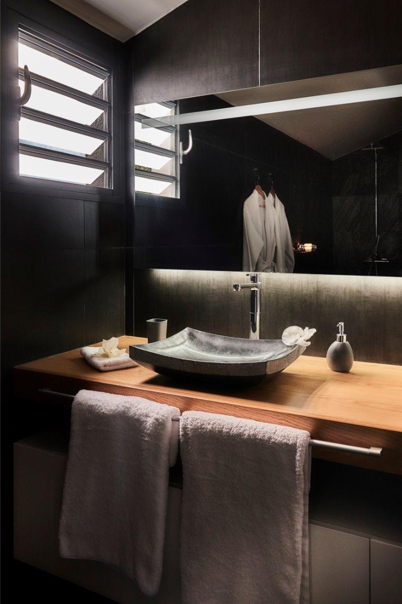 salle de bain - Chambre d'hôtes - L'Étang-Salé