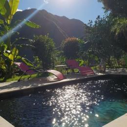 Piscine chauffée avec vue sur la montagne - Chambre d'hôtes - La Possession