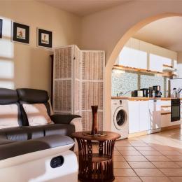 Salon et cuisine - Location de vacances - Saint-Leu